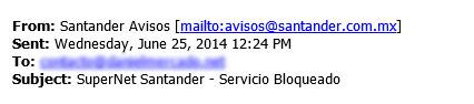 Dirección de e-mail falsa