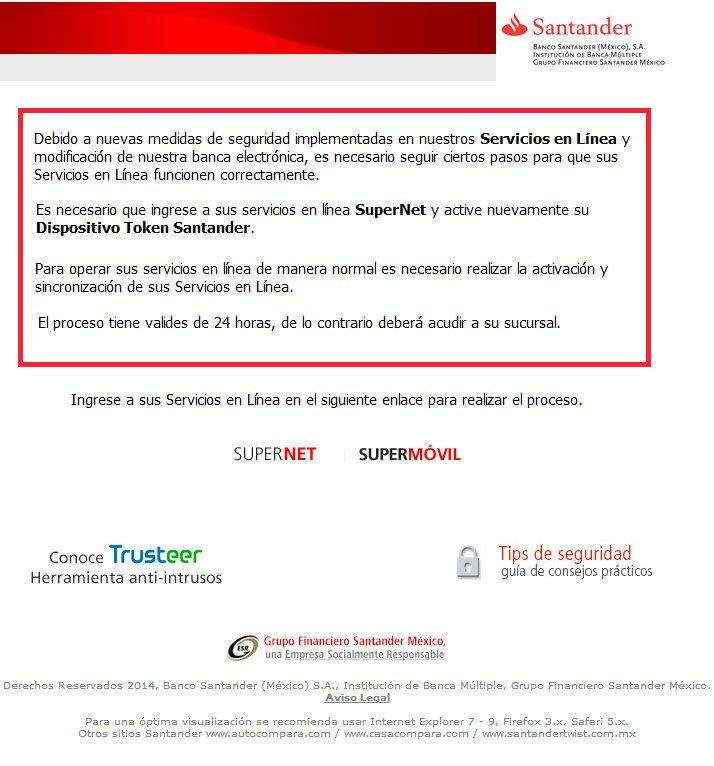 E-mail fraudulento